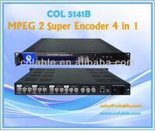 4 porto SD mpeg 2 codificador, Ip fluxo codificador, Tv e estação de rádio para venda COL5141BP
