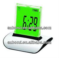Kids desktop LCD digital alarm clock with 7 glowing color change