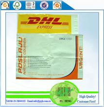 DHL plastic envelope for shipping, guangzhou jiuheng