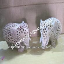 Elephant Figures Stone Sculptures