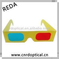 Wholesale paper 3d red cyan glasses,as to make glasses of 5[d] from the paper