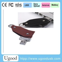 Swivel leather USB,Promotional USB leather, Gift USB flash drive