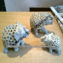 Decorative Sandstone Elephant Sculpture