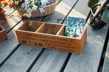 zakka, Natural brown storage box ,antic finished creative design,C0341
