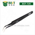 Best-729 stainless steel black curved twee