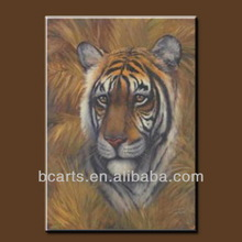 handmade framed camvas animated pictures tigers, wild animal tiger oil paintings for wall decoration