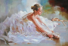 Beautiful Handmade Lady Dance Painting on Canvas