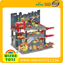 Hot Sale ! Solid City Toy cars Parking garage toys