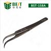 Best-158A curved tip stainless tweezer function