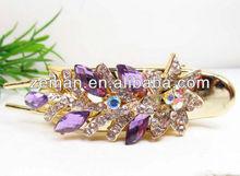 wholesale magnetic crystal cheap flower hair clips cute girls hair pins handmade