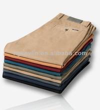 2014 autumn new 100% cotton slim fit men work pants chino