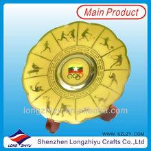 2014 Custom commemorative acrylic coin display stand medal sports souvenir medallion metal badge wholesale