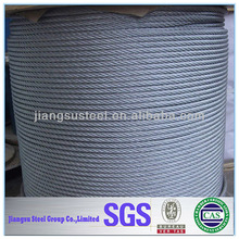 China factory AISI 304 Polished and Annealed Stainless Steel Wire Rope 1*7 2mm