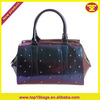 Rubber Purple Jelly Fashion Candy Dragon Fruit Satchel Bag Studed Front Tote Handbag Silicone beach bag silicone tote bag