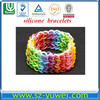 Rain-bow chain bracelets/twisted bangles/rubber&silicone hand wristbands