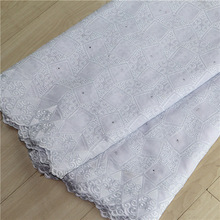 n065 New square grid design white swiss voile lace