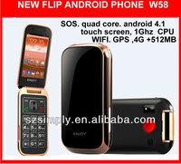 new 2014 flip wifi phone 4.1 GPS. WIFI W58