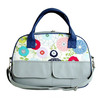 Designer Travel Bag for Ladies Blue Pink White Flowers