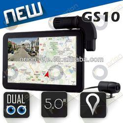 HD720p 5inch car camera video recorder hd 1280x720 gps navigator Russia google maps GLONASS+GPS DVR-GS10