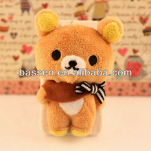Factory sells directly best price adorable plush doll cartoon case for iphone5s