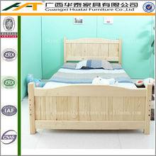 Simple princess bed,solid pine wood single bed kids furniture