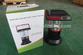 insecticidal mosquito insect kill portable solar lantern