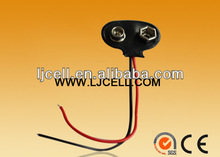 9V T type battery snap with wire leads, 9V battery holder T type