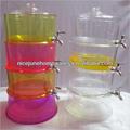 Unbreakable de acrílico 3 galones 3 Tiers dispensador de la bebida