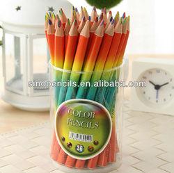 jumbo rainbow color pencil ; multi color pencil ;triangle shape