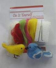 DIY Wool bird
