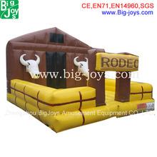 Inflatable / mechanical rodeo bull machine