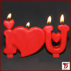 lovely letter shaped I love u candles wholesale from China