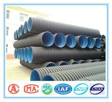 GB/T 19472.1 standard OD225-800mm pe rigid corrugated plastic pipe