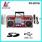 Digital alarm clock Boombox FM Radio with AUX IN/Karaoke/USB/SD