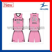 Hot style popular custom design girl youth basketball uniform/latest basketball jersey design