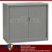 steel grey small two roll down door storage square cabinet/half height double roller shutter doors metal shoe storage cabinet