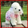 Cute stuffed dressed plush toy long hair dog