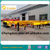 3 axle 40T flatbed cargo trailer,sale discount 3 axle platform cargo trailer