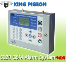 GSM home security system GSM alarm system ,wireless and wired zones easy to set up S120