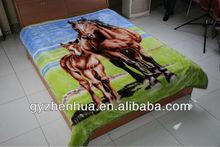 100% polyester super soft animal print polyester mink blanket