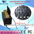 Gsm RJ45 piscina del módem de 8 Port para enviar SMS de direcciones IP