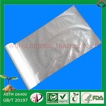 Flat Plastic Bag Made of Corn Starch and PBAT