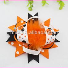 Holiday decorative printed ribbon Halloween bow