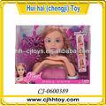 grande cabeça de bonecos de plástico de brinquedo para meninas