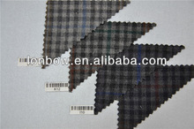 Wholesale new development wool polyester lycra for fall winter plaid jacket fabric