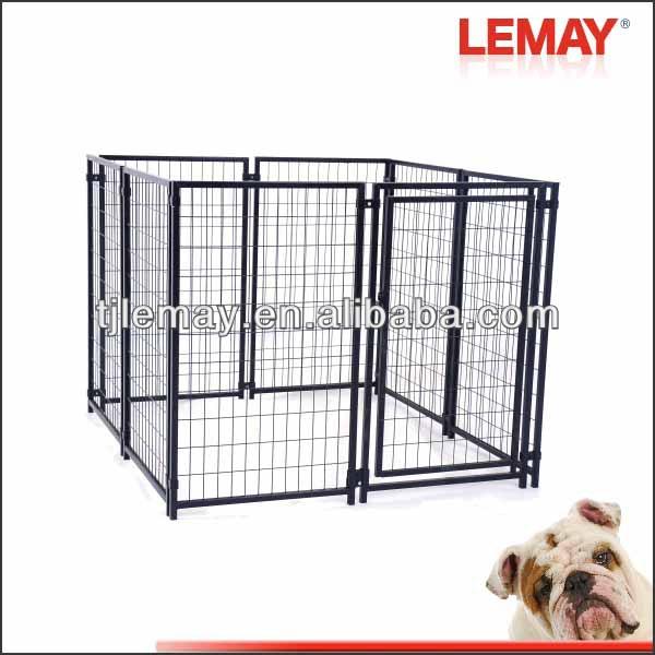 Black heavy duty folding pet cage