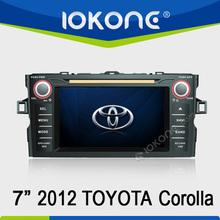 In dash car DVD player GPS navigation digital TV radio bluetooth for 2012 Toyota Corolla