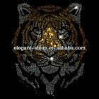 Tiger hotfix rhinestone heat transfer design