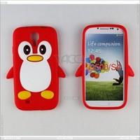 Ebay China Animal design Penguin silicone case for samsung galaxy s4 case