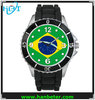 Hotselling Brazil country flag watch with all countries flag on watch